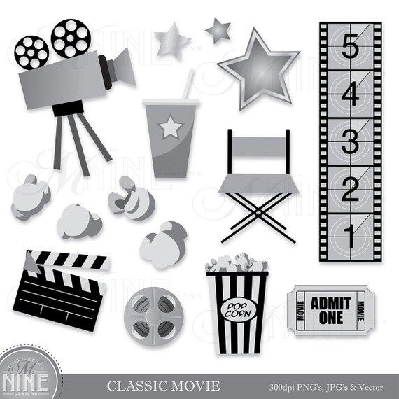 Cinema clipart file. Classic movie clip art