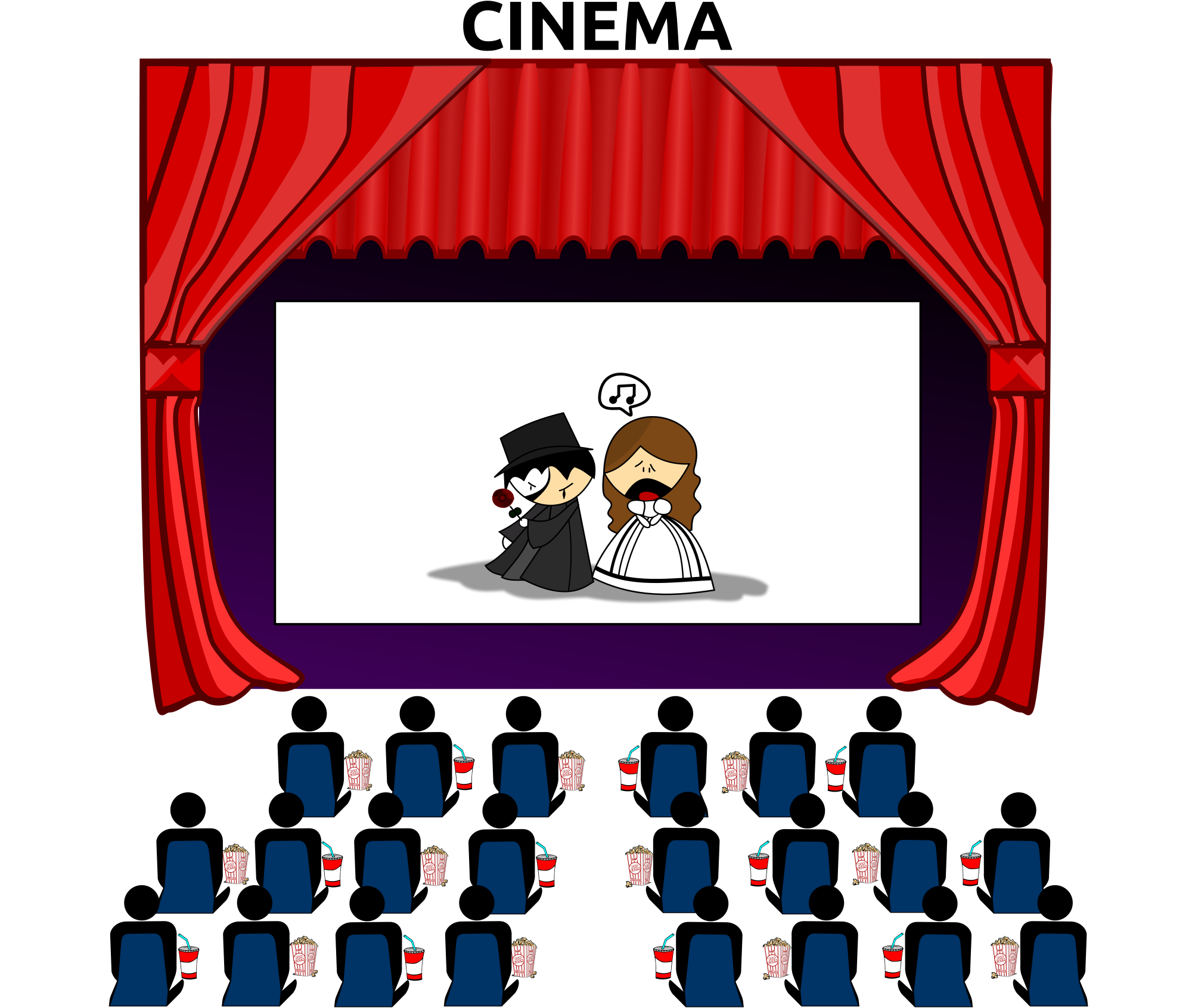 Movie theater with an. Cinema clipart file