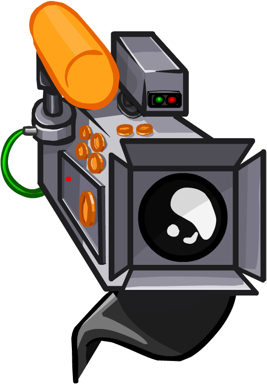 Movie club penguin wiki. Photography clipart cinema camera