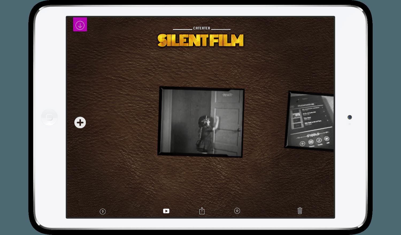 Silent film studio create. Iphone clipart app