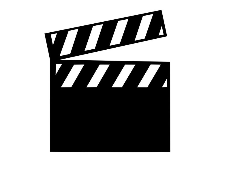 Movie clipart clap. Svg clapper board cinema