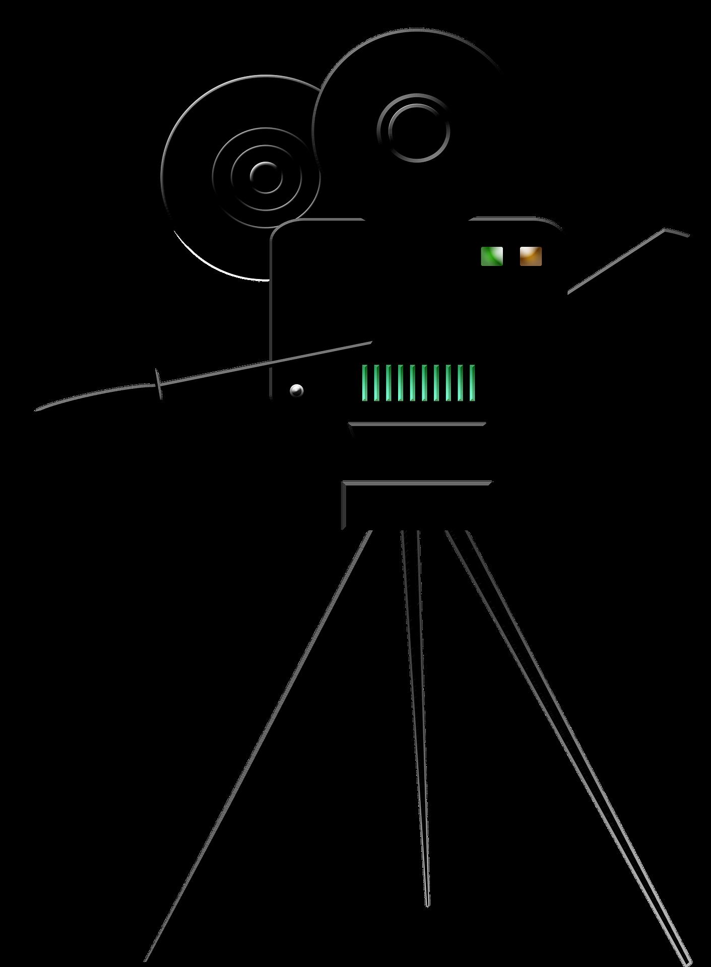 Movie clipart film viewing. Camera clip art black
