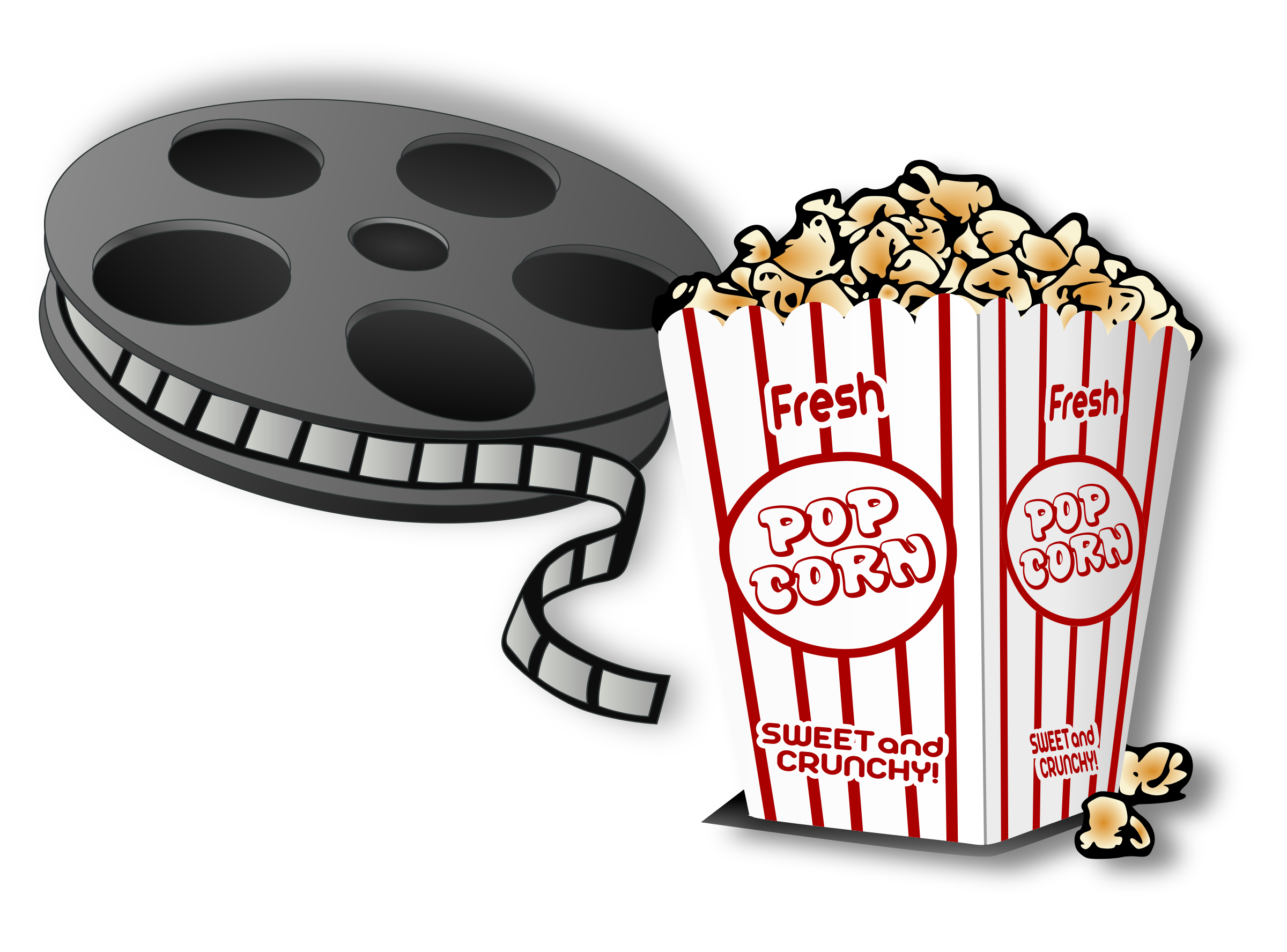 Hot popcorn and a. Movie clipart basket