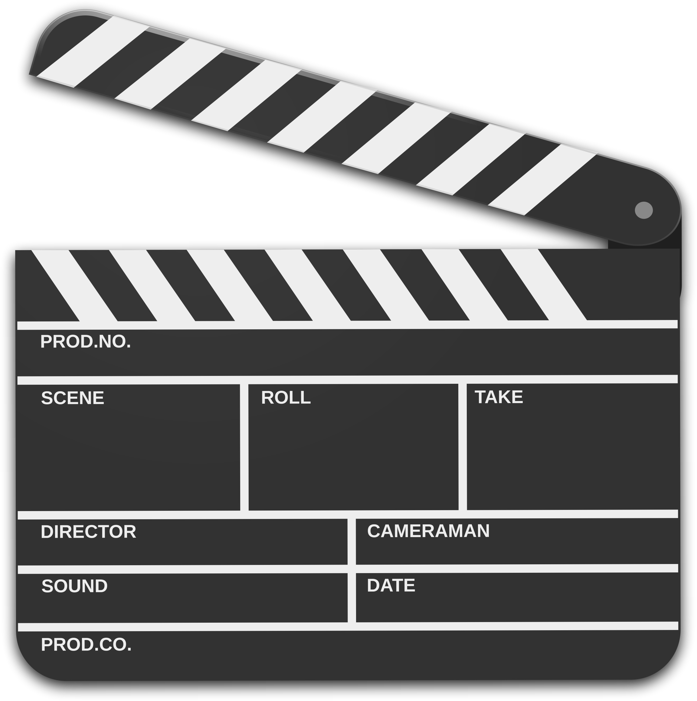 Markers clipart black and white. Movie scene marker icons