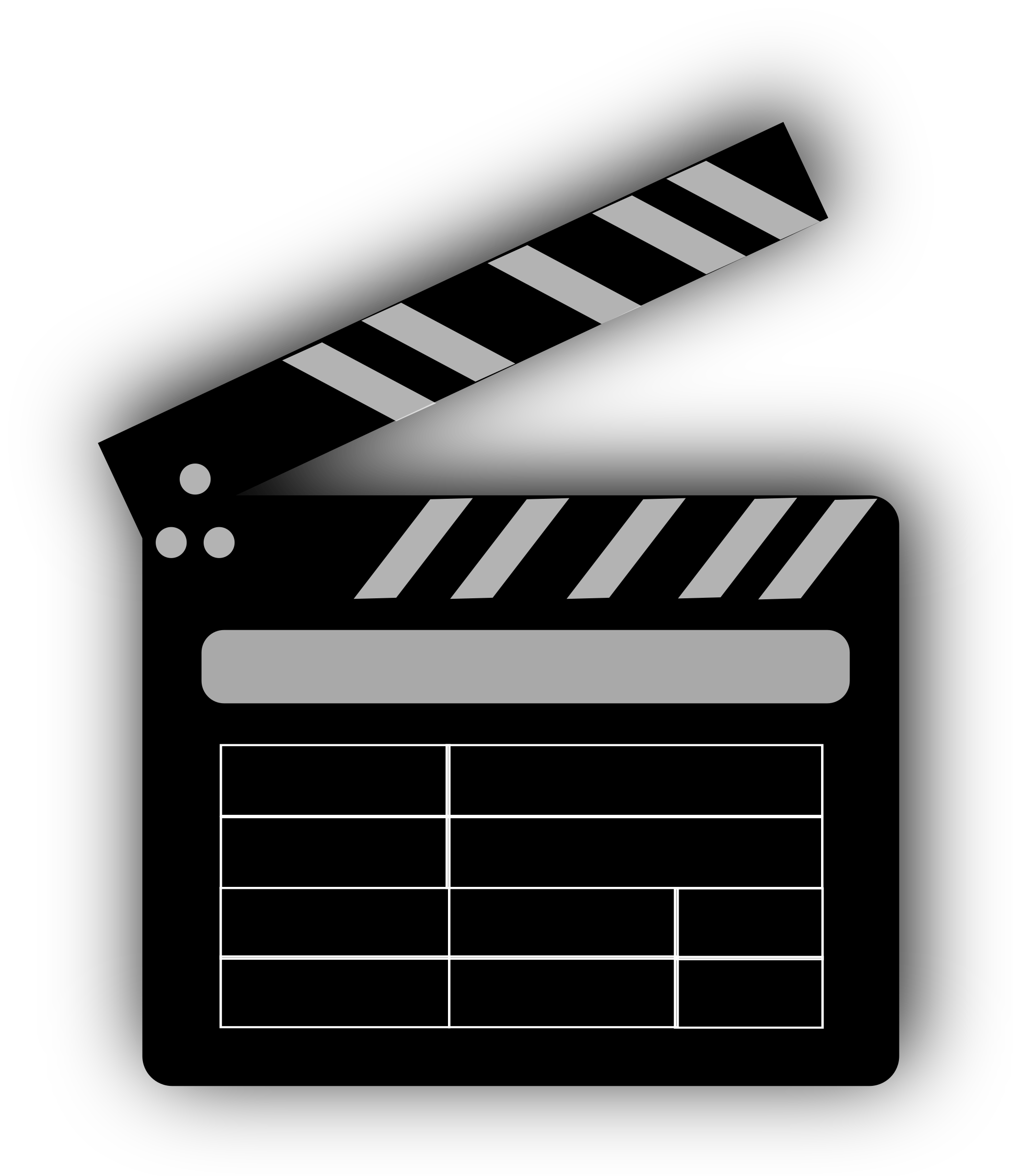 Movie clapper board icons. Monday clipart transparent