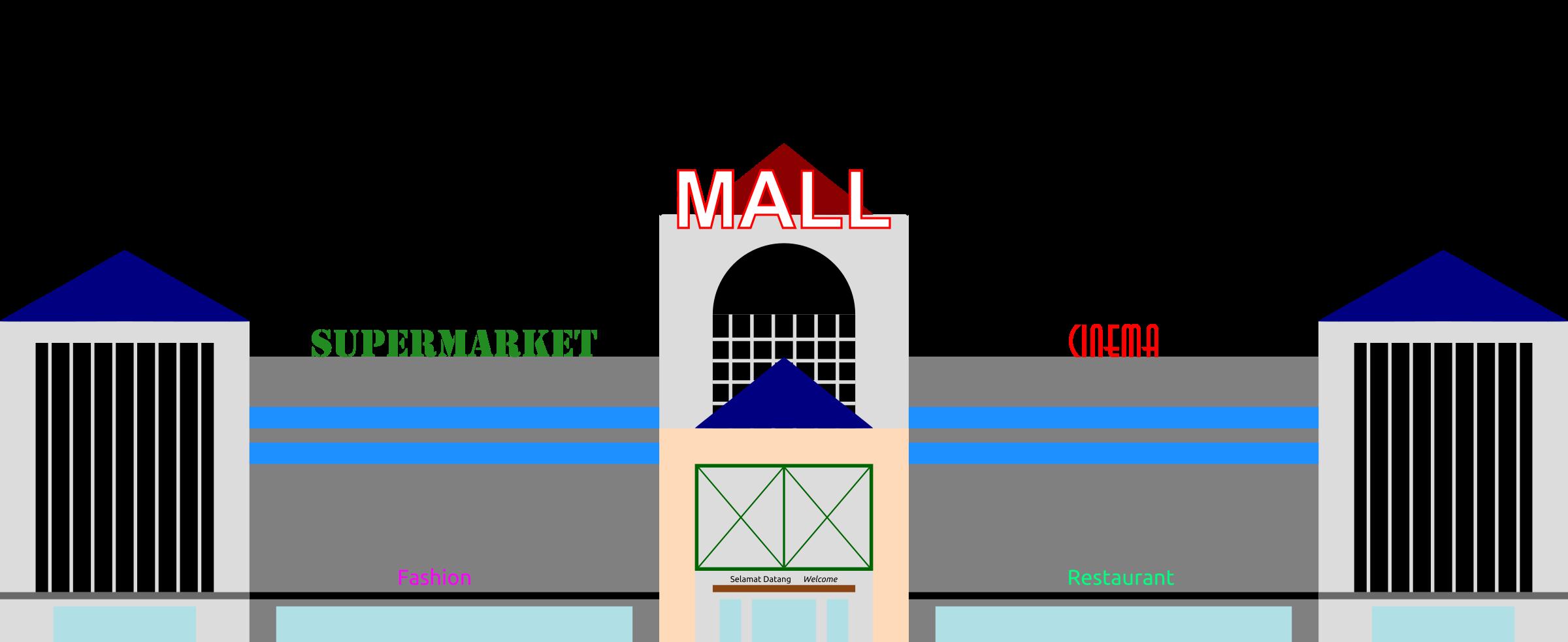 restaurants clipart mall building #140979183