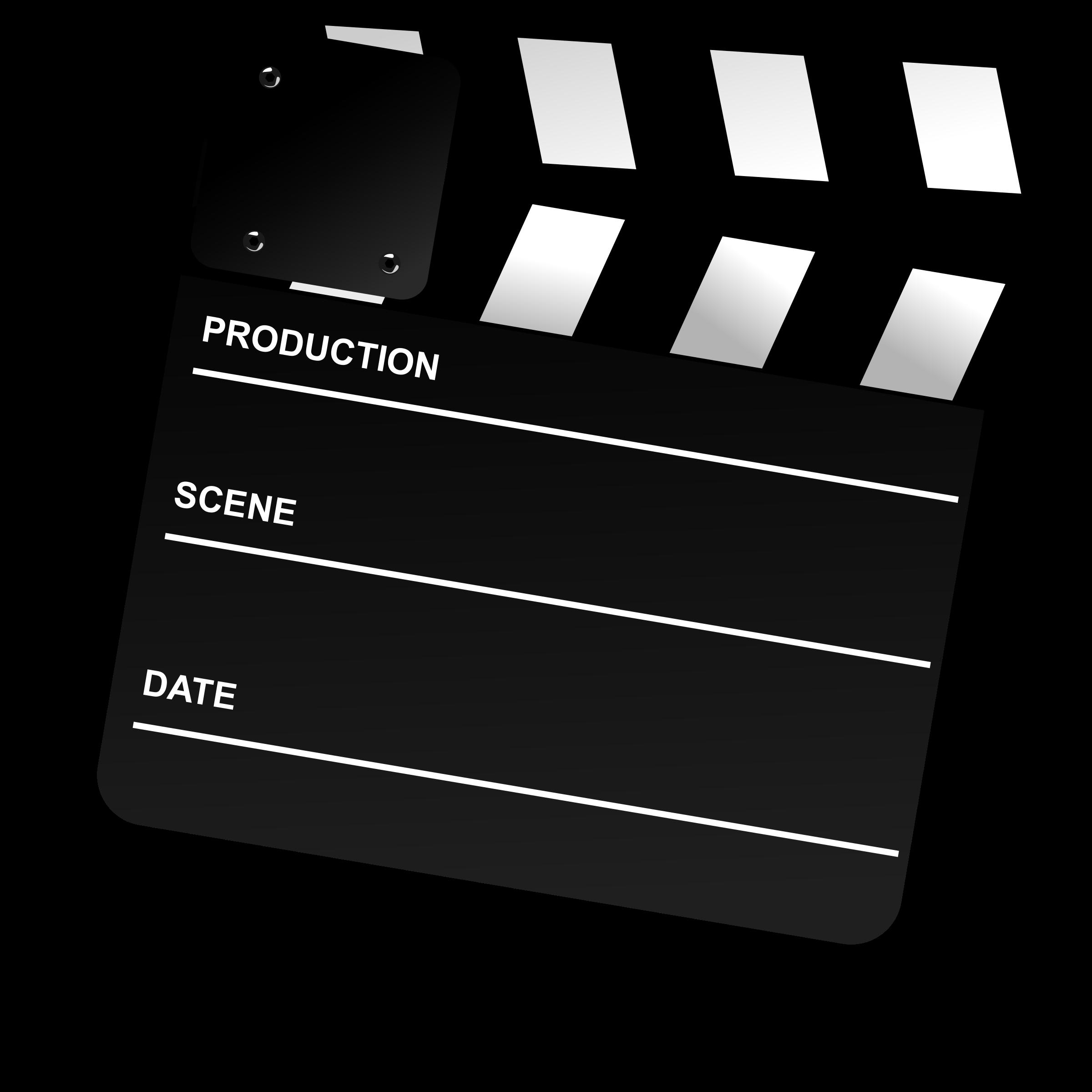 Movie clipart movie director. Clapper board big image