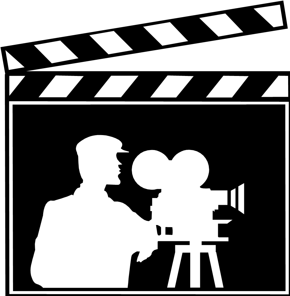 Lights action real estate. Movie clipart hollywood camera