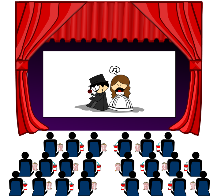 collection of cinema. Movie clipart clipart hd