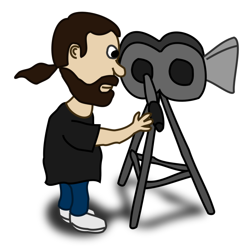 collection of director. Video clipart movie producer