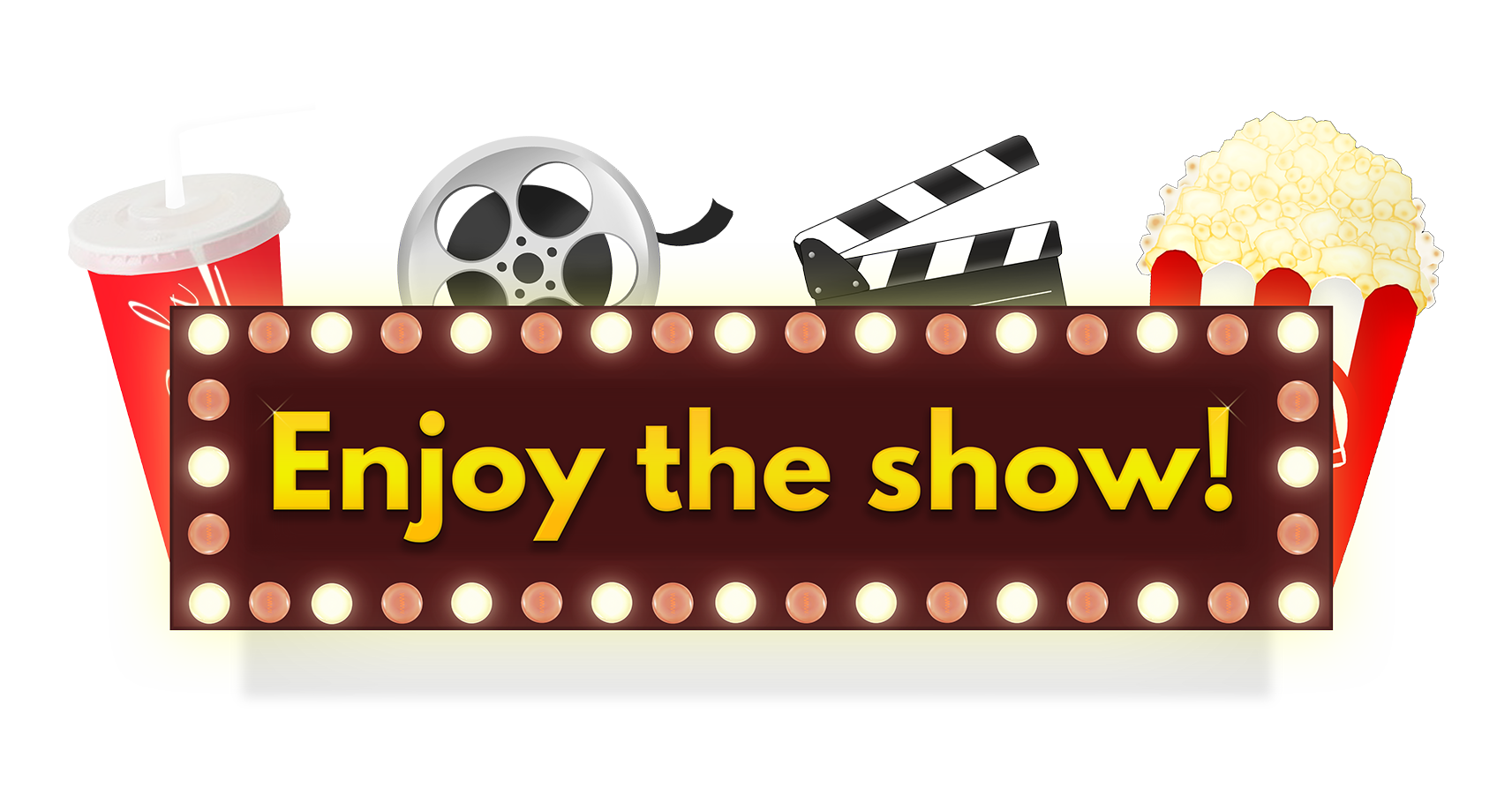 Collection of free comedies. Theatre clipart clapboard