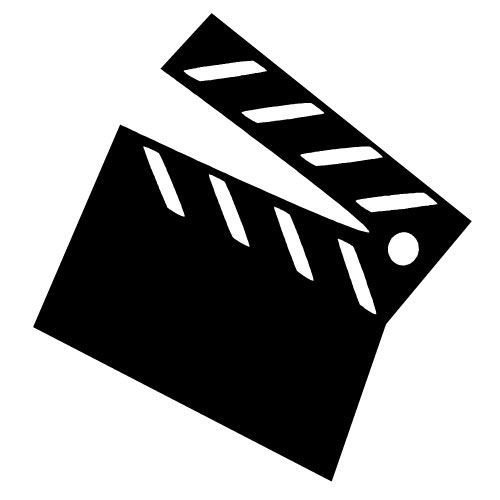 Movies clipart black and white. Free movie cinema cliparts