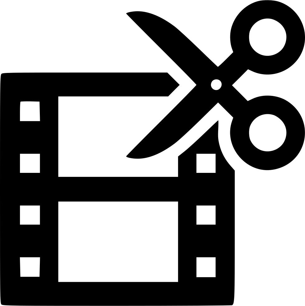Film strip cut scissors. How to edit png images
