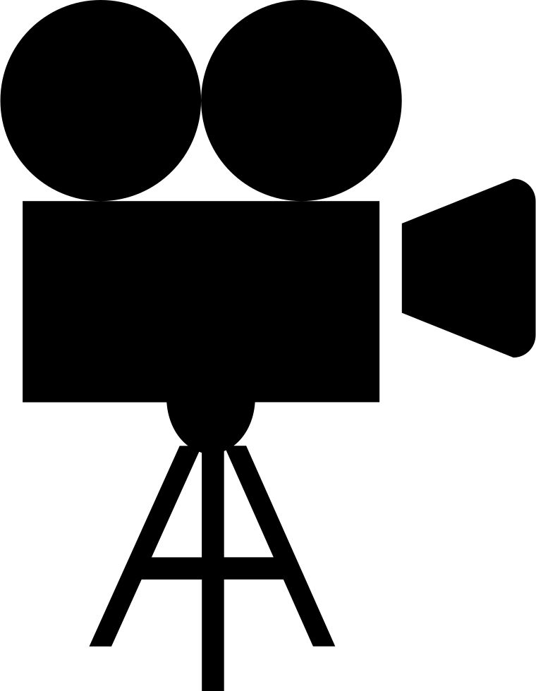 Movie video record film. Photography clipart cinema camera