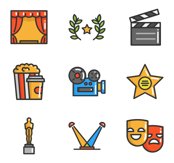Movie clipart movie theater. Icons free vector cinema