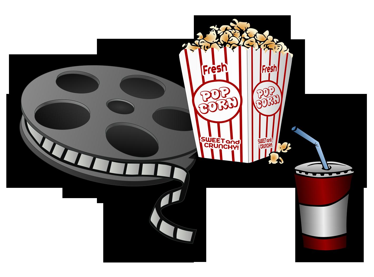 Film cinema clip art. Ticket clipart popcorn