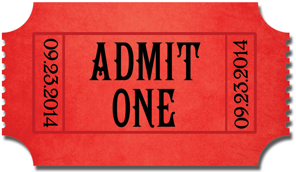 Png tickets transparent images. Ticket clipart admit one