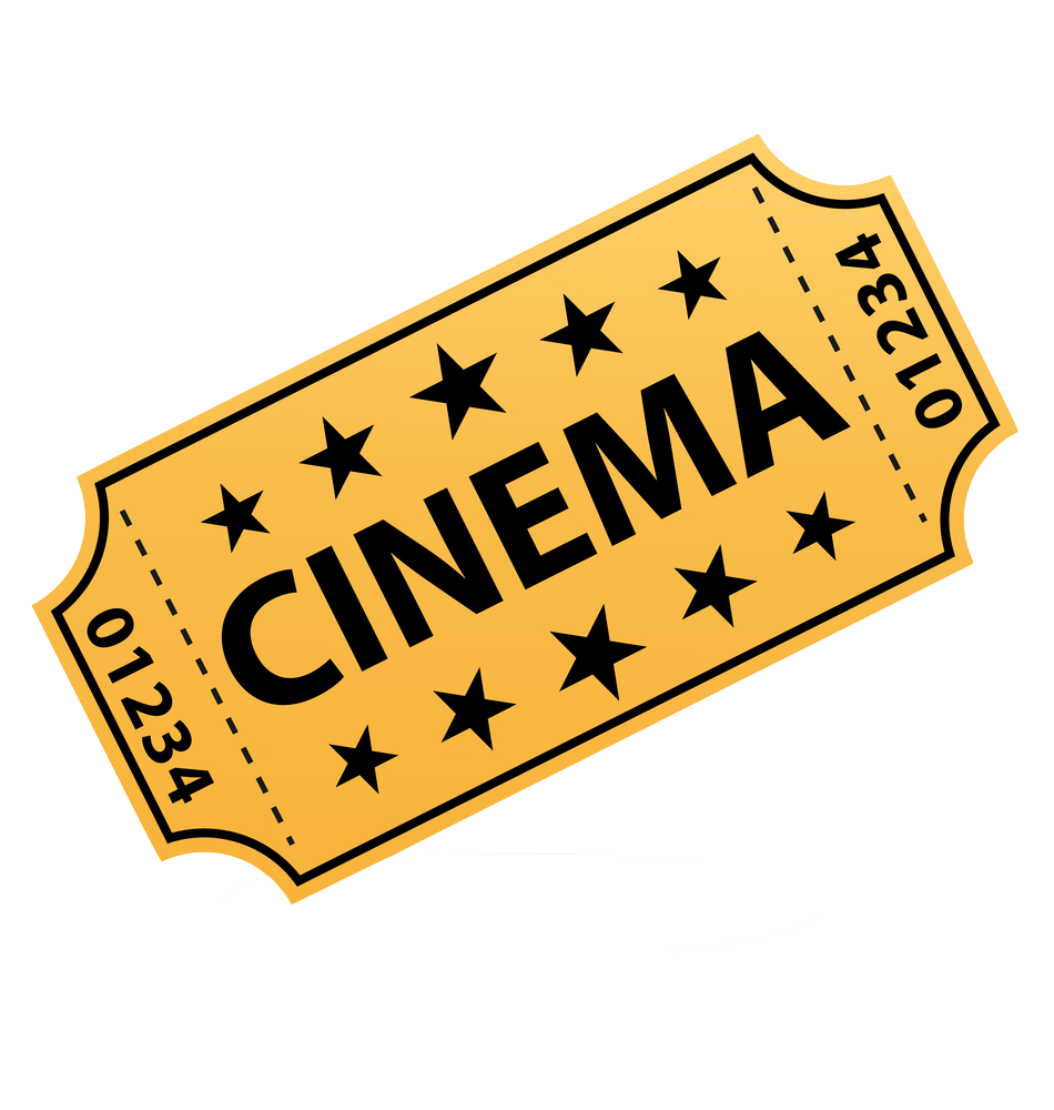 Png movie transparent images. Raffle clipart cinema ticket