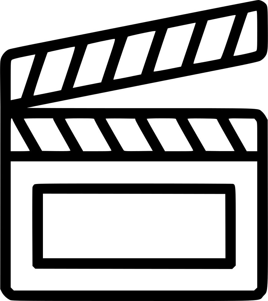Clapper media movie cinema. Film clipart video
