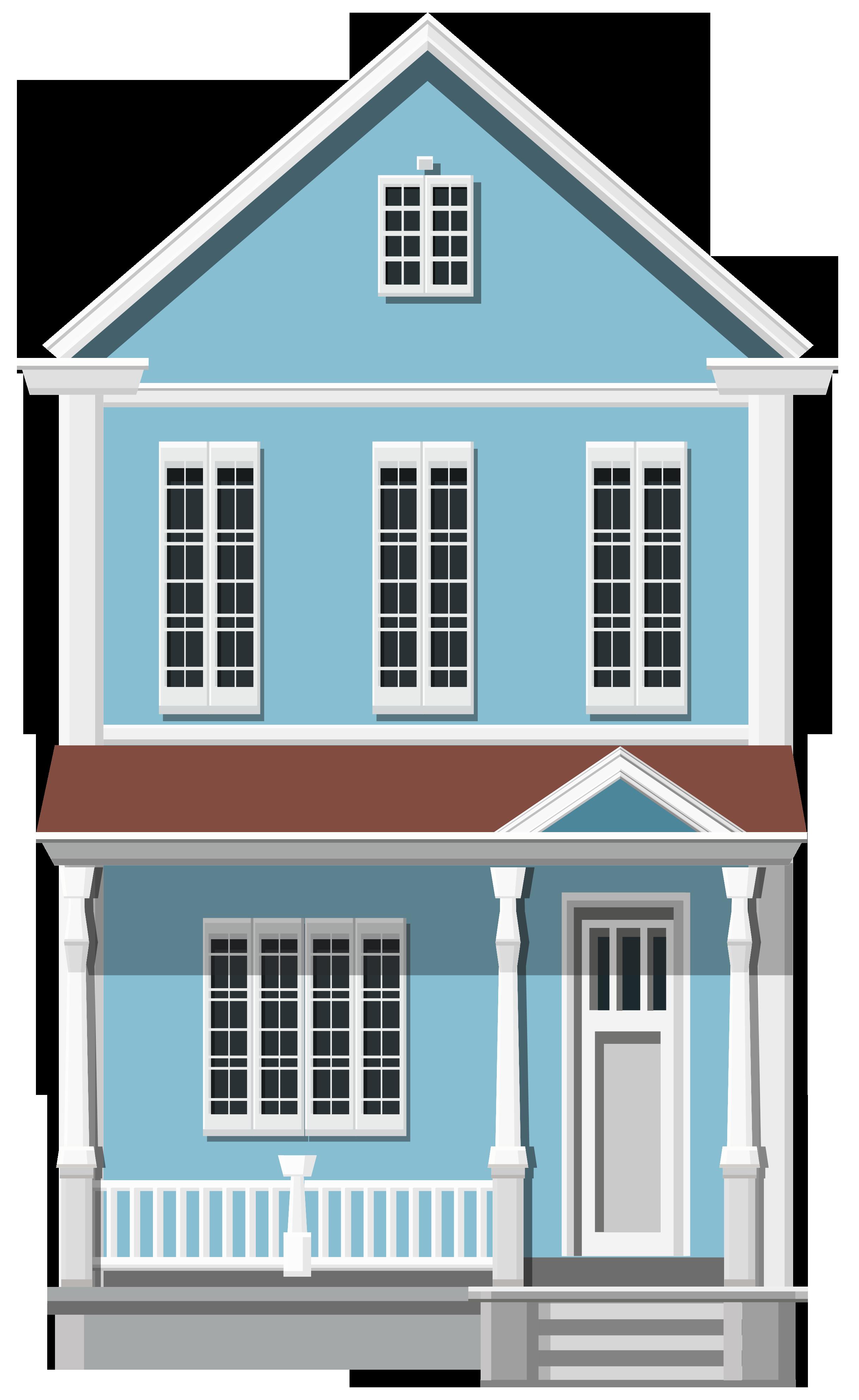 Clipart hand house. Blue png clip art