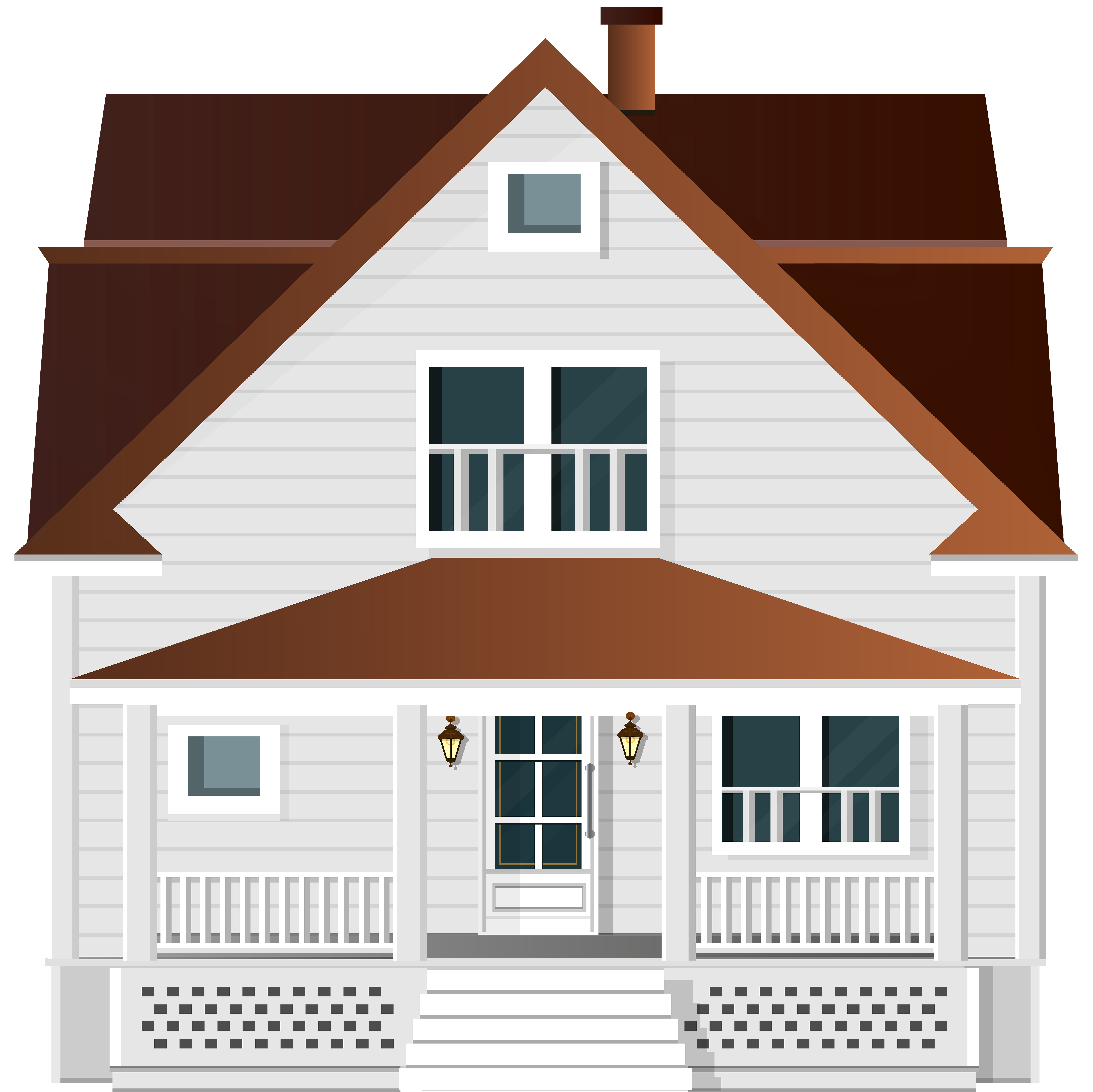 White png clip art. Hand clipart house