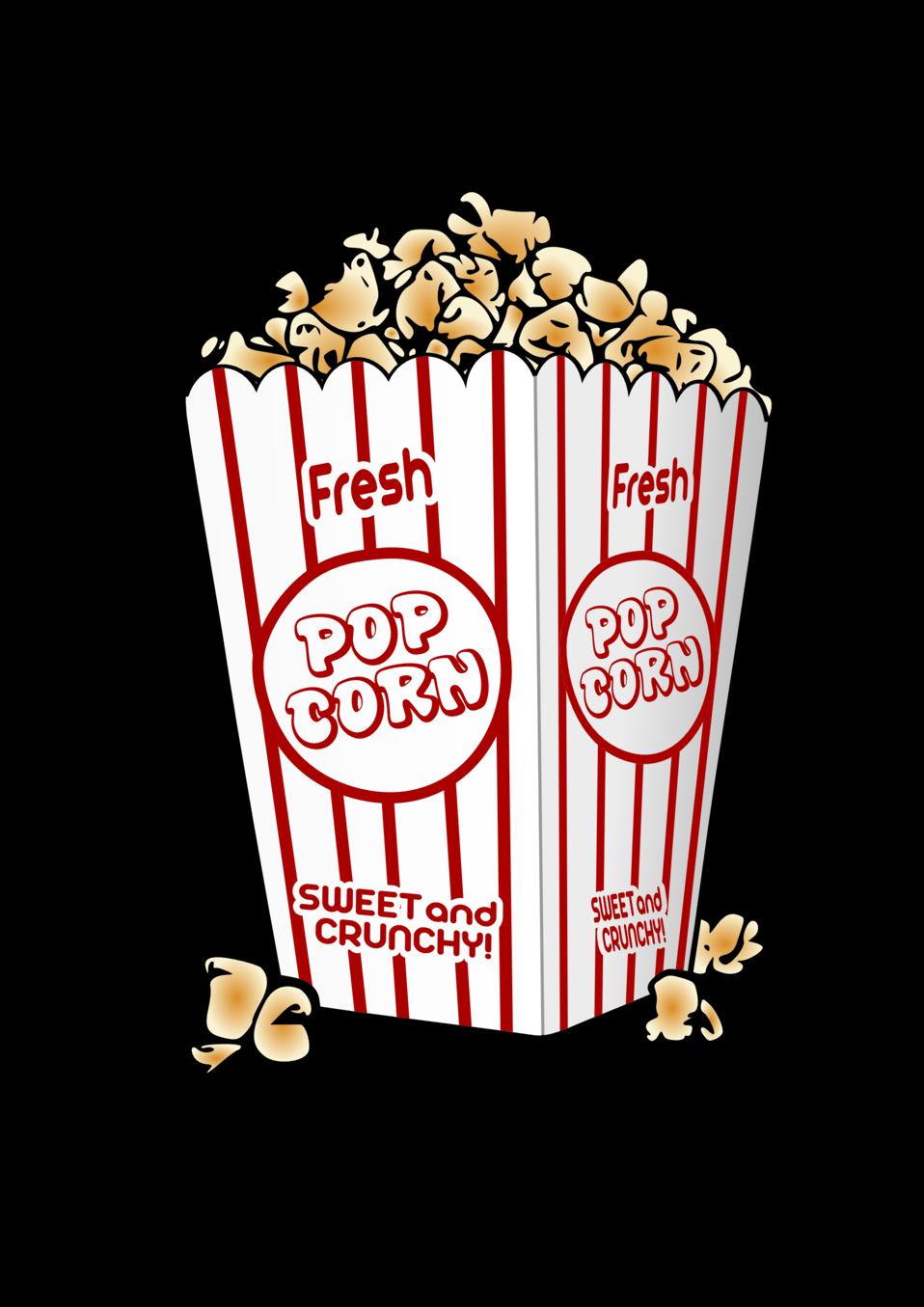 Clipart tv and popcorn. Public domain clip art