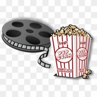 Movie png clip art. Cinema clipart popcorn