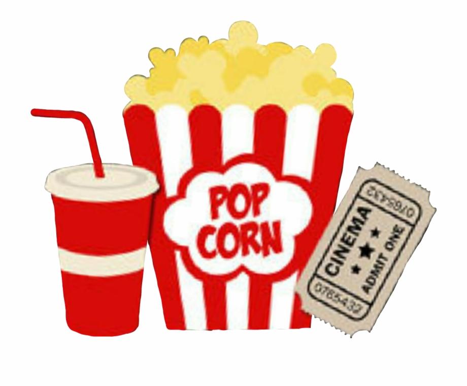 Download soda movie and. Cinema clipart popcorn