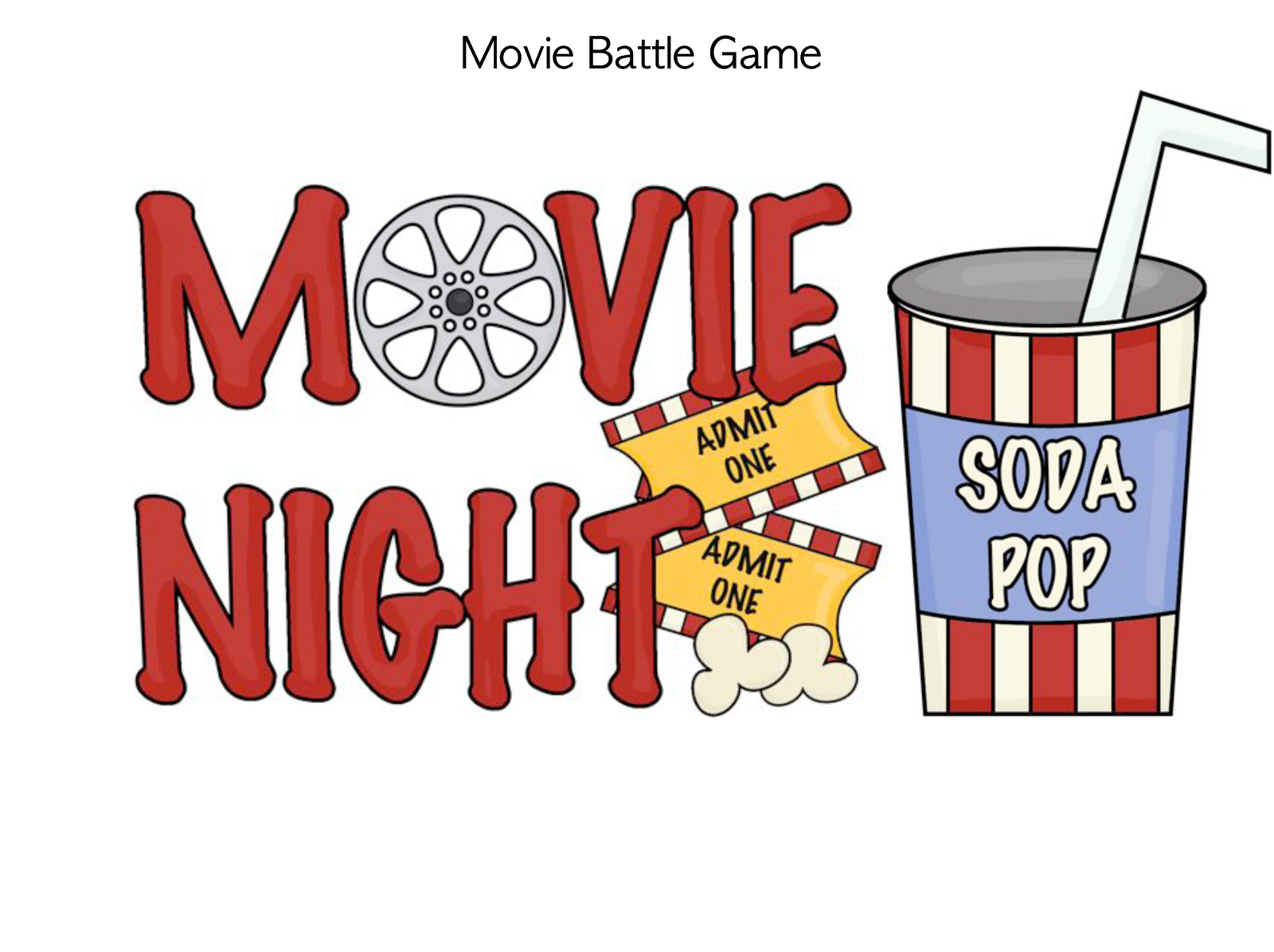 collection of movie. Cinema clipart popcorn