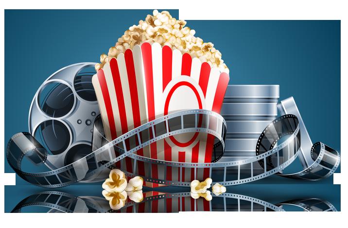 Cinema clipart reel. Popcorn film clip art