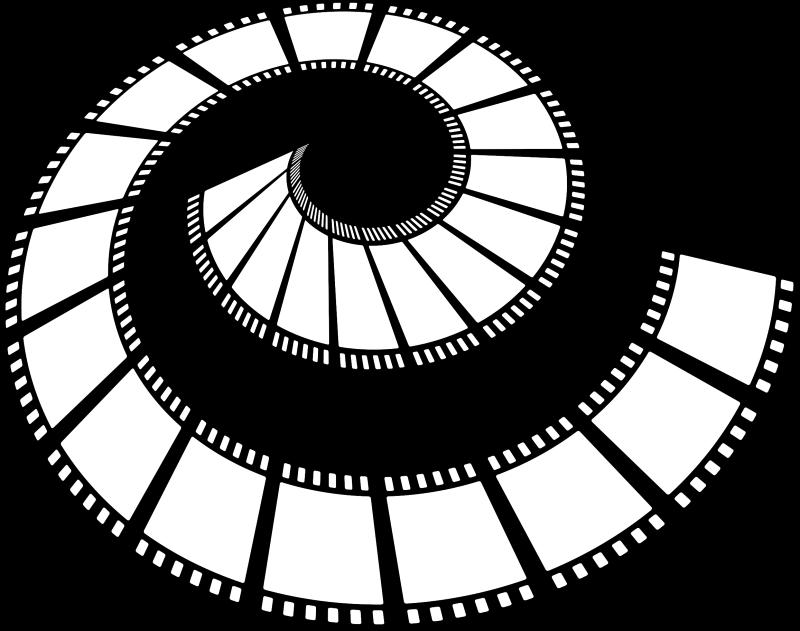 Cinema clipart reel. Film black and white