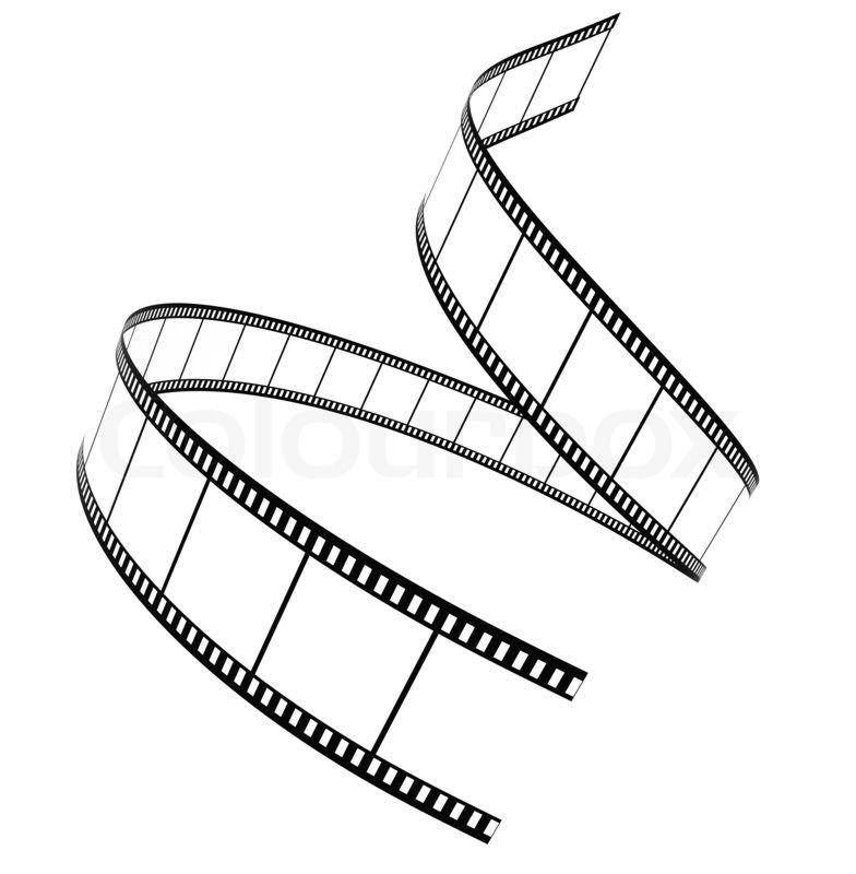 Camera film clip art. Cinema clipart roll