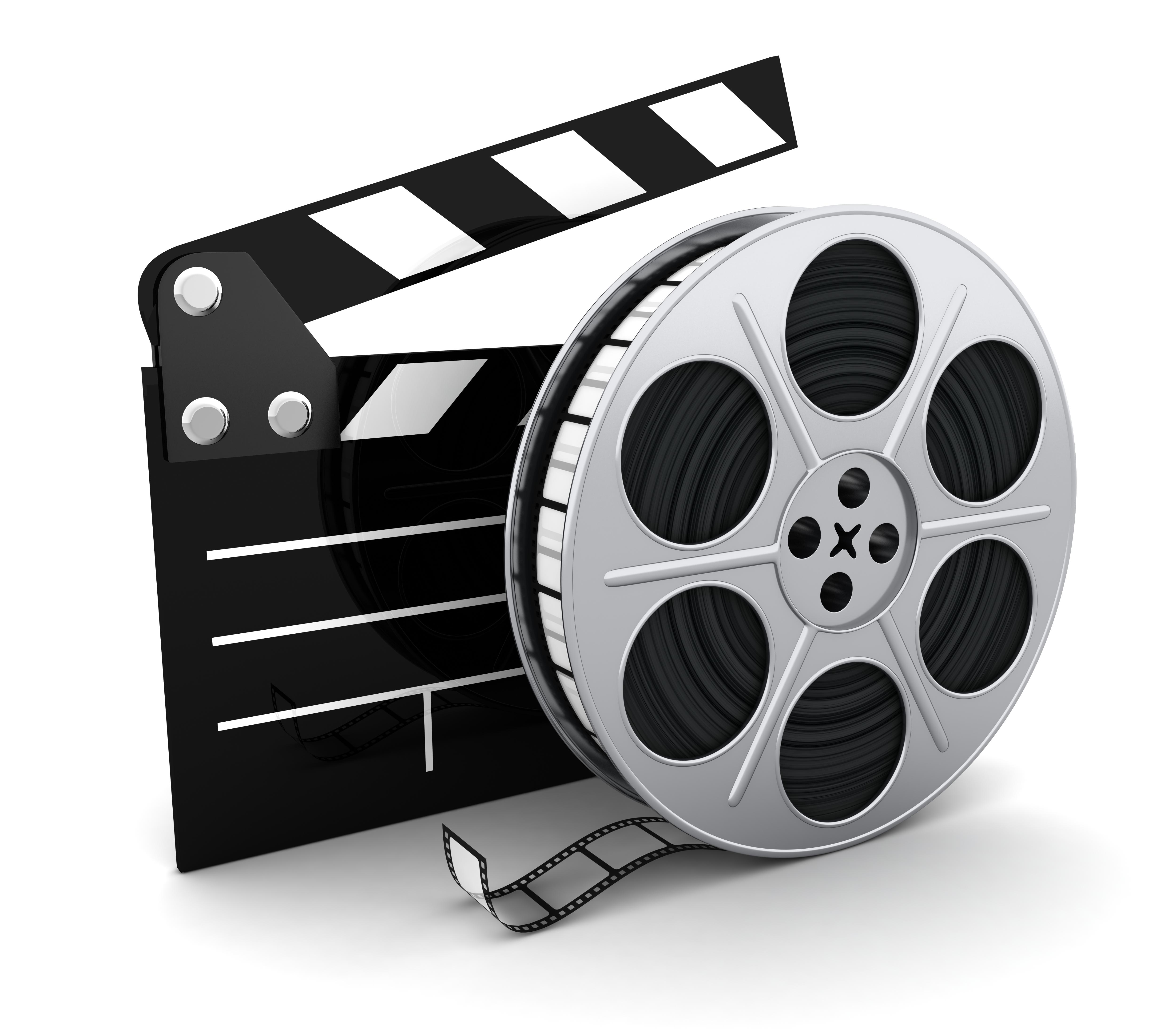 Cinema clipart roll. Film clip art look