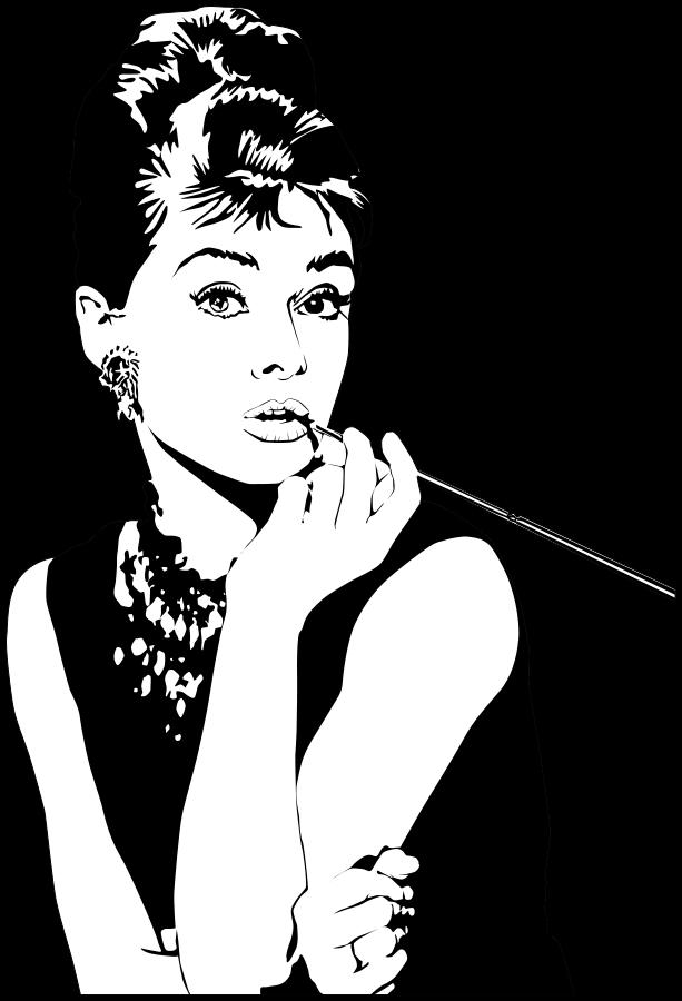 Audrey Hepburn Clipart