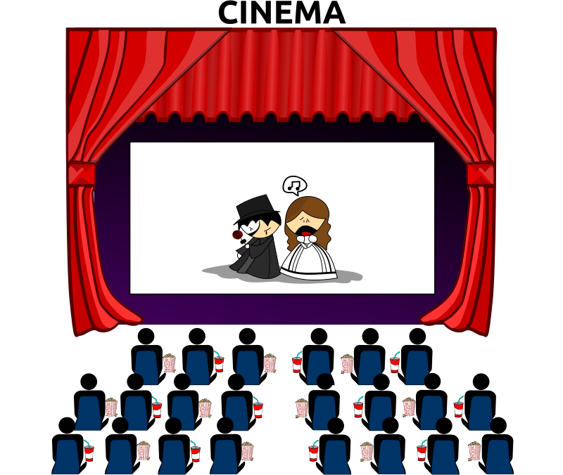 cinema huge freebie. Movie clipart book movie