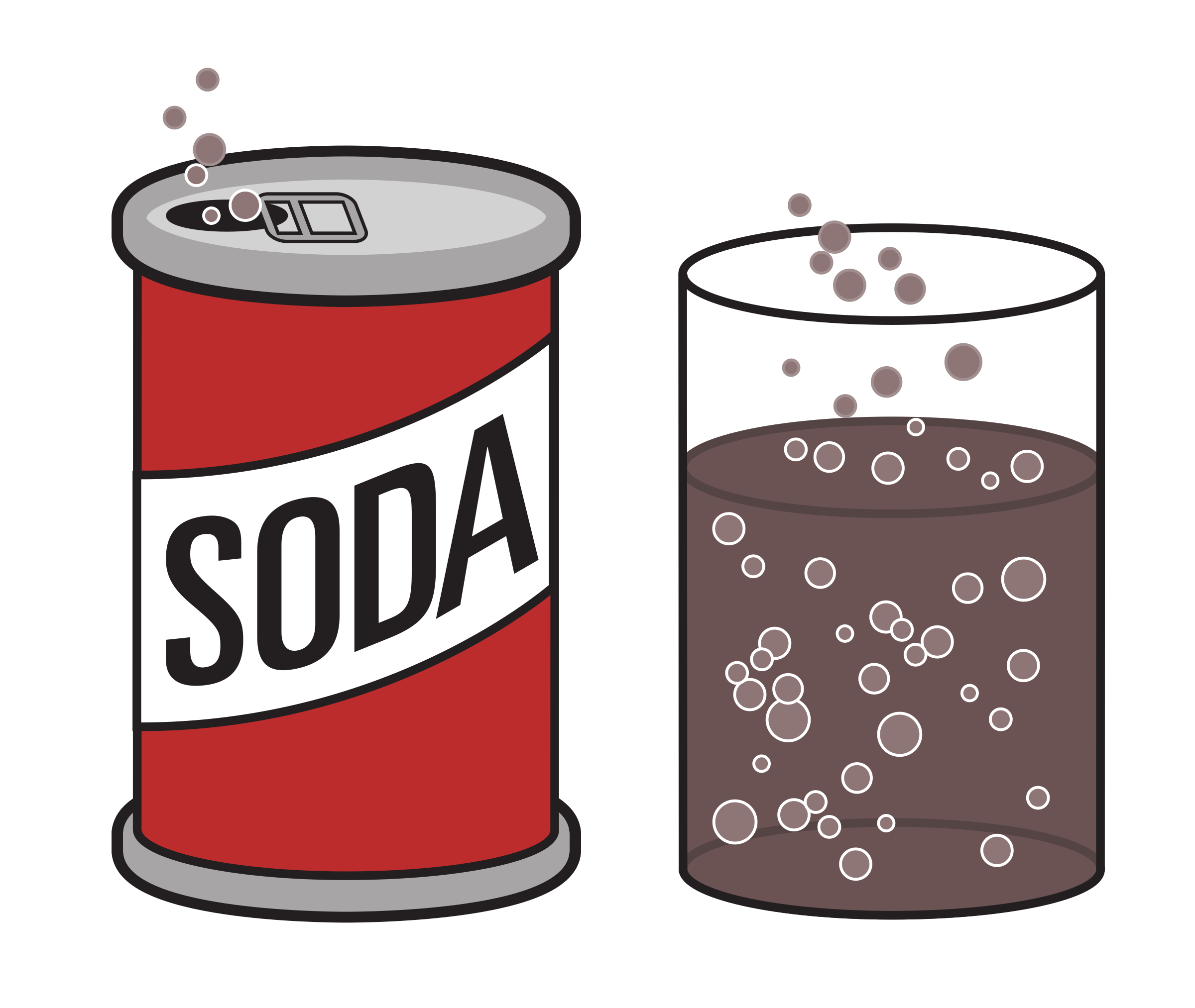Fizzing colour icons png. Kawaii clipart soda