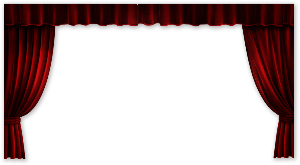 Curtains clipart empty stage. Movie theatre transparent png
