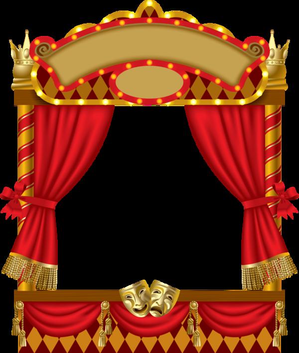 Curtains clipart empty stage. Cadres frame rahmen quadro