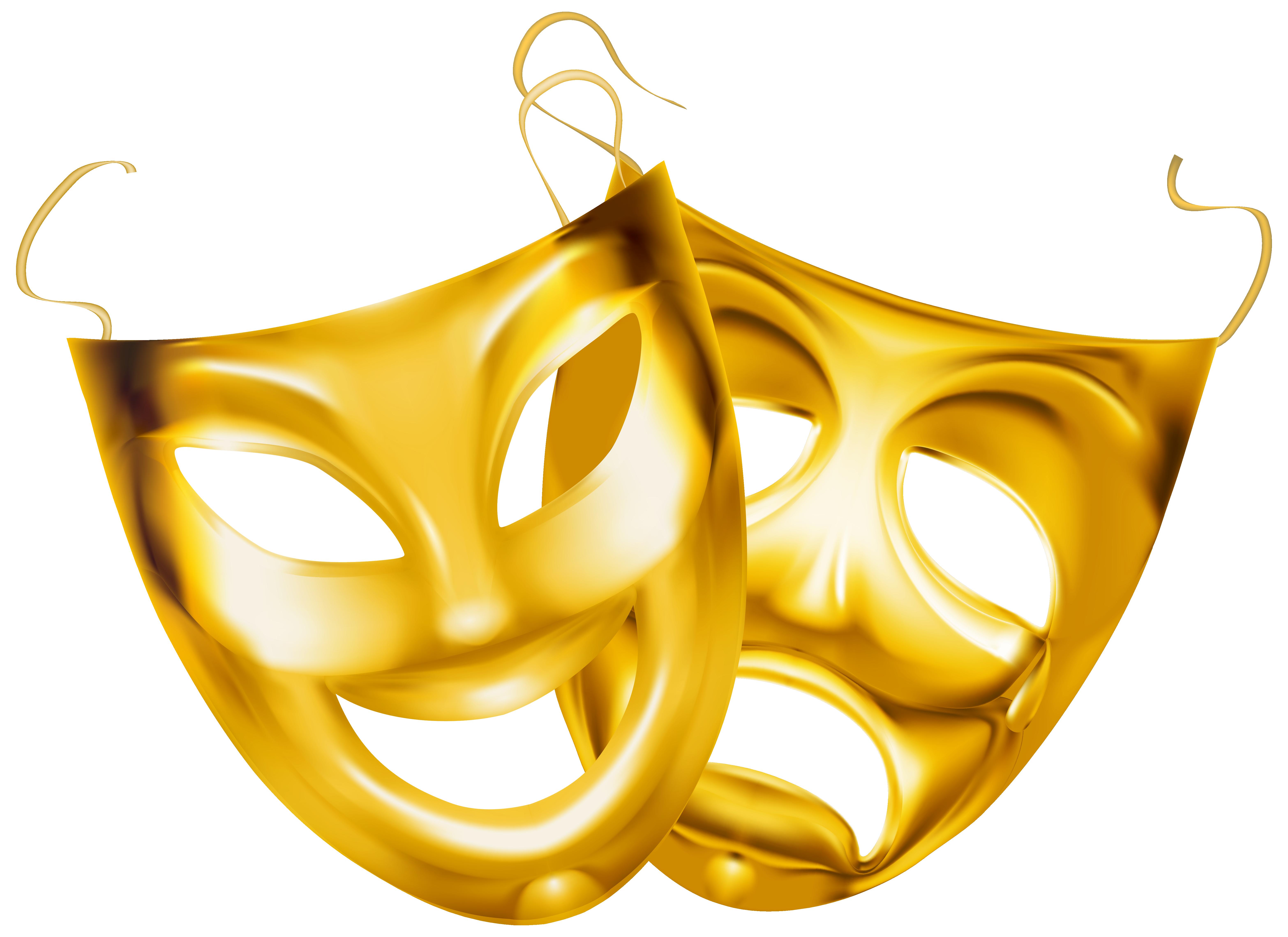Pumpkin clipart gold glitter. Theater masks png image