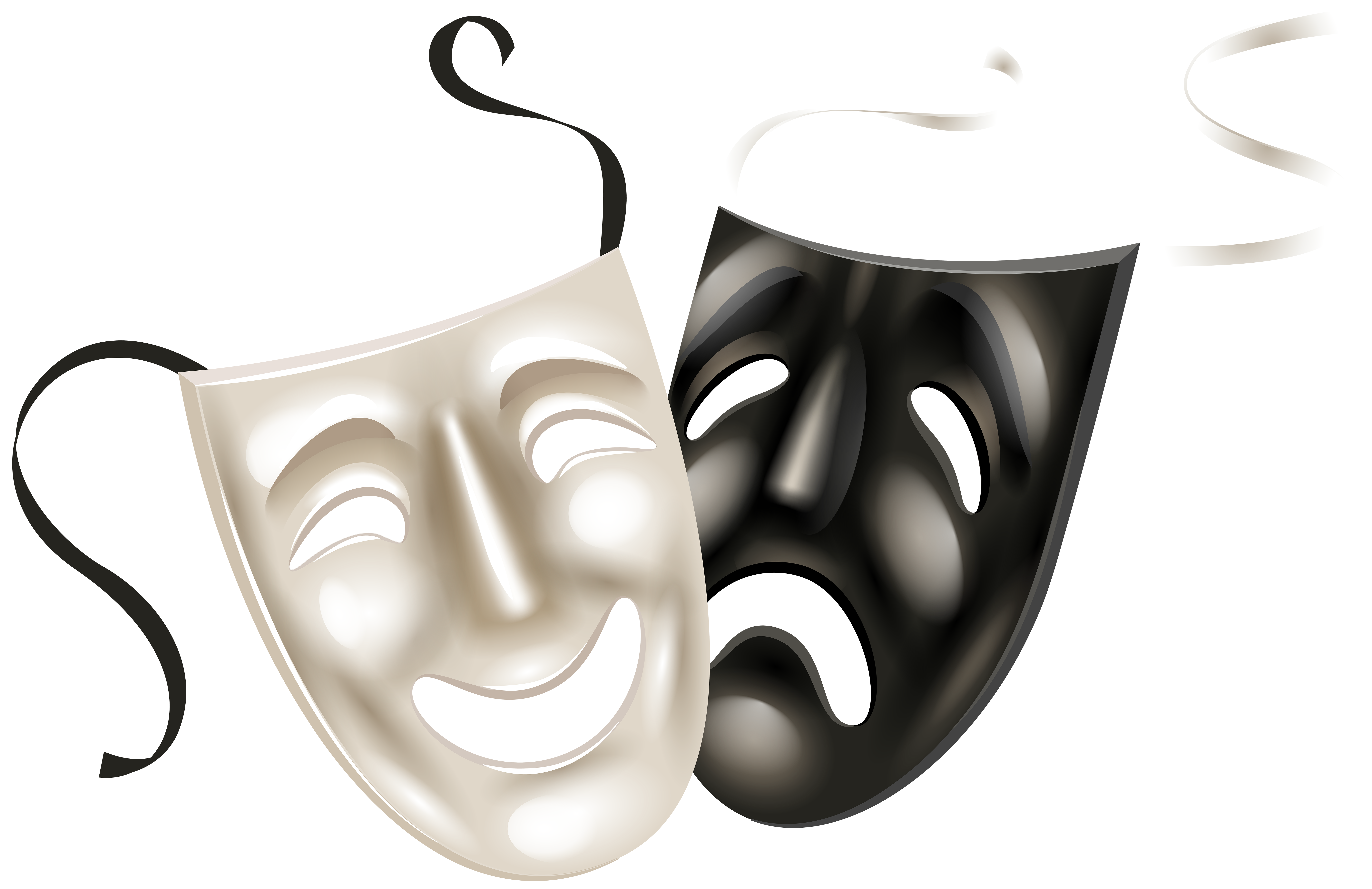 collection of theater. Mask clipart mood