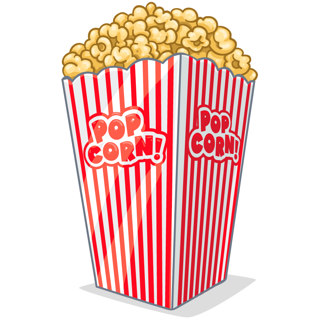 Png images free download. White clipart popcorn