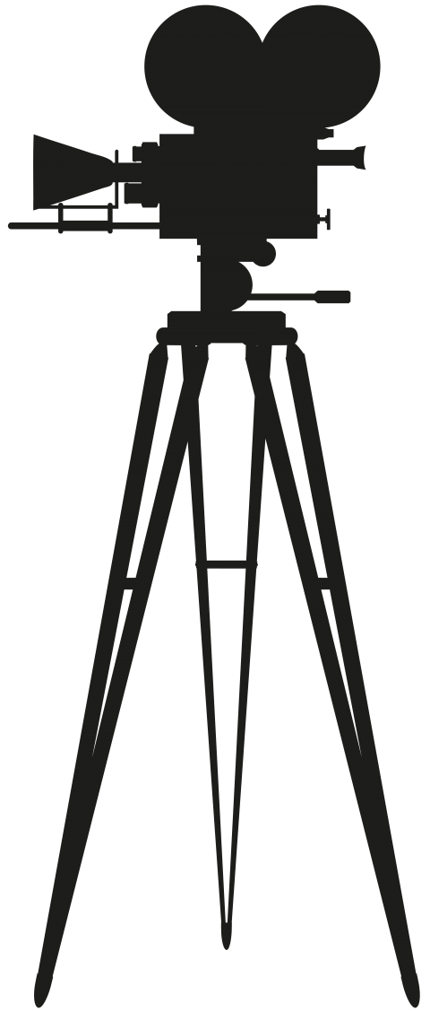 Silhouette png free images. Photography clipart cinema camera