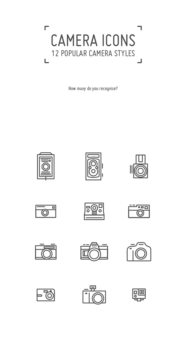 Icons set by angeloletra. Yearbook clipart simple camera