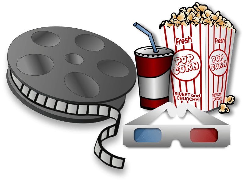 see clipart watch film