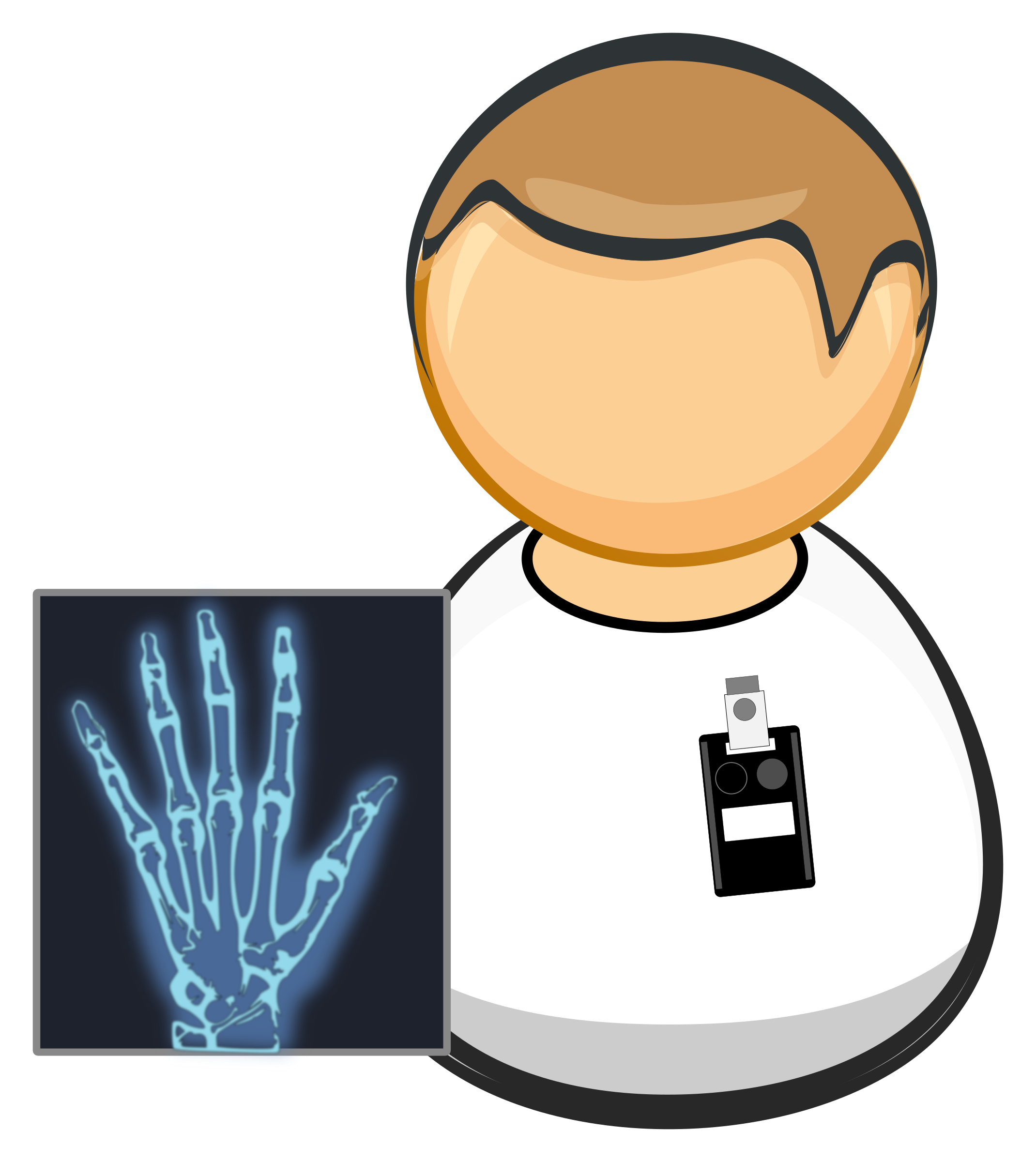 X ray worker icons. Xray clipart svg