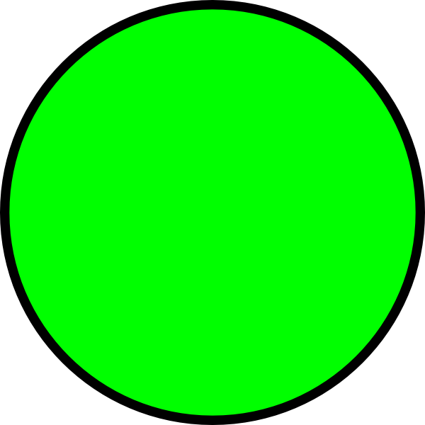 Circle clipart. Green clip art at