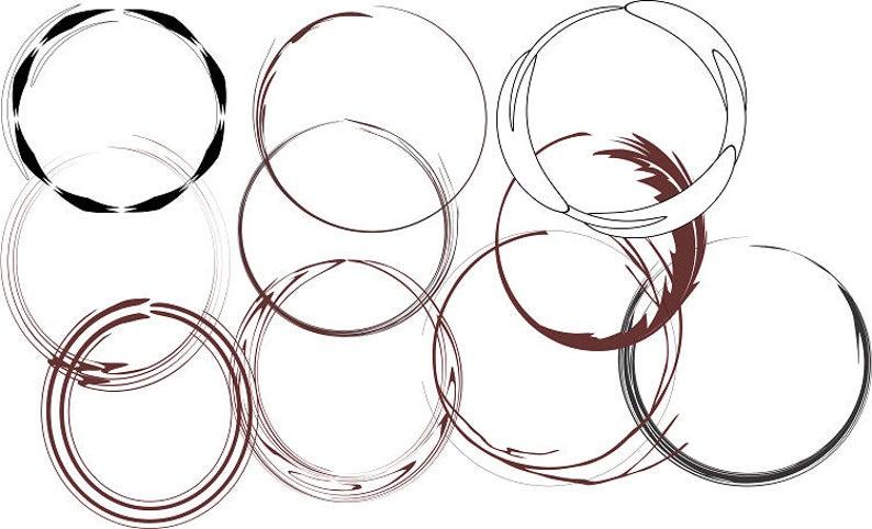 Circles black and brown. Circle clipart abstract
