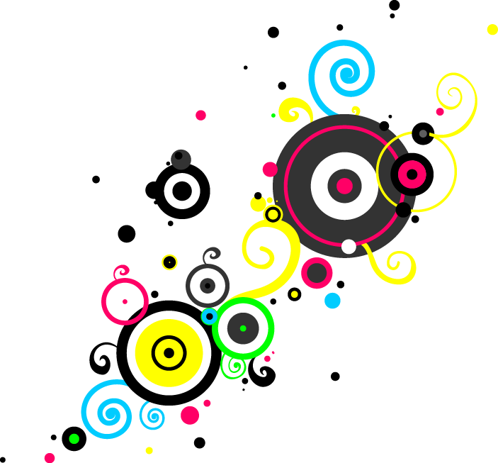 Photography clip art colorful. Dot clipart bright colored