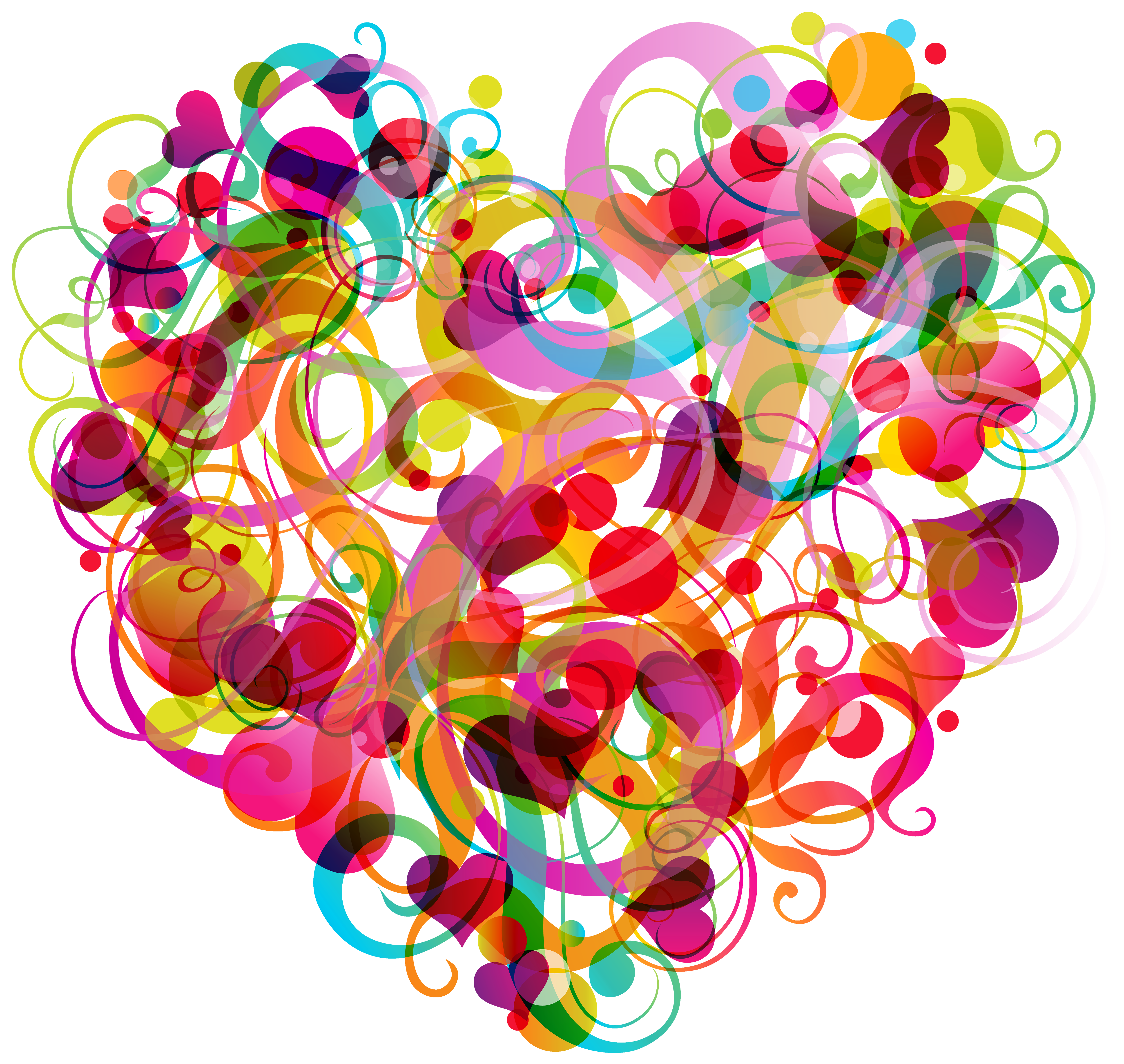 Abstract colorful heart png. Hearts clipart circle