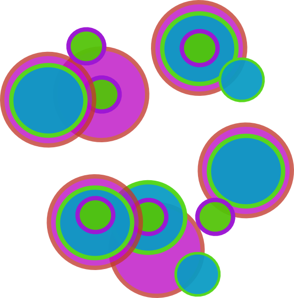 Pretty circles clip at. Circle clipart abstract art